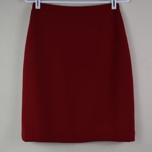 George Size 8 Lined Red Polyester Pencil Skirt